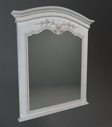 design house decor com antique style carved wood mirror 3d model 3dsmax files