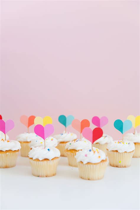 printable heart cupcake topper  love  party