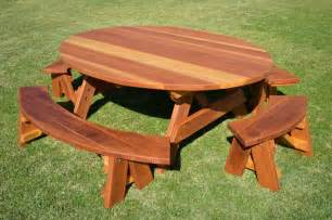 oval wood picnic tables built to last decades forever