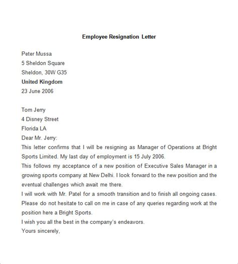 Resignation Letter Time Employee image gallery letter acknowledging employee resignation