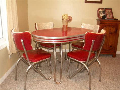 retro chrome kitchen table retro kitchen table and chair set dinette dining vintage chrome formica ebay
