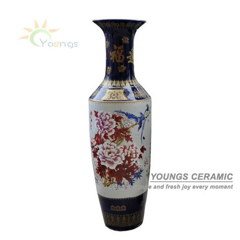 Big Floor Vases For Sale by 6 Antique Painted Large Floor