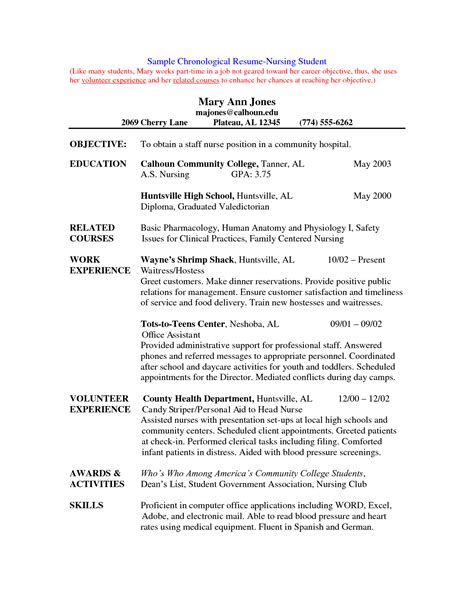 Nursing Resume Exles New Grad by New Grad Lpn Resume Sle Nursing Hacked