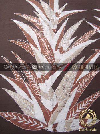 Jarik Kain Batu 20 Putih Coklat gambar batu alam motif daun kain batik warna alam motif