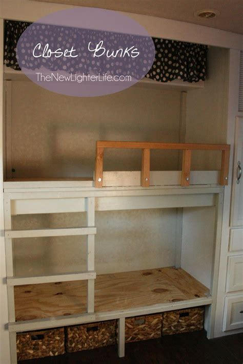 Bunk Bed With Closet 25 Best Ideas About Closet Bed On Bed In