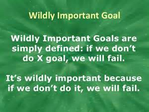 wildly important goals template wildly important goals wigs book covers