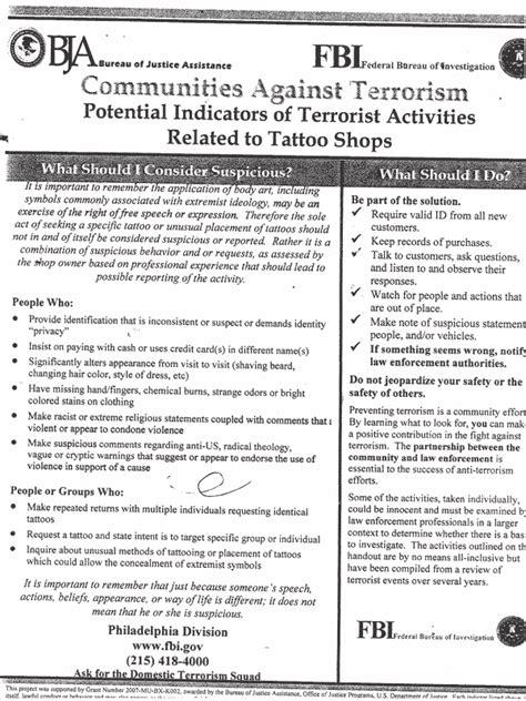 fbi tattoo policy f b i enlisting shops 187 darkgovernment