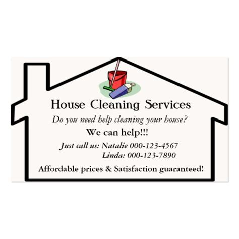 Free Business Card Templates For Cleaning Services by House Cleaning Services Business Card Template Zazzle