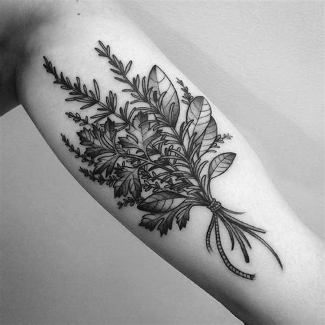 herb tattoo best 25 herb ideas on