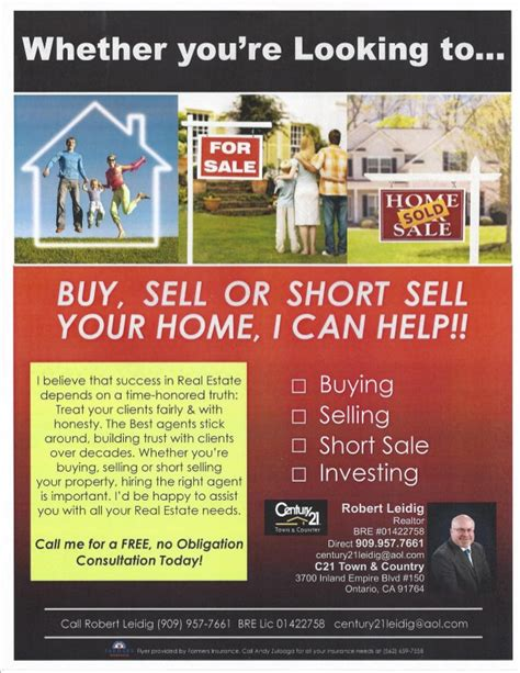realty executives buy or sell your home with us flyer thinkin about buy or sell