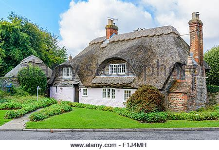 Flint Cottage Alfriston by Thatched Cottage In Sussex Stock Photo Royalty Free Image 80288397 Alamy
