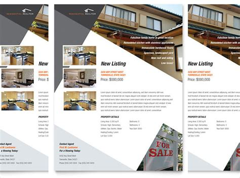 property brochure template free 33 free real estate flyer template in microsoft