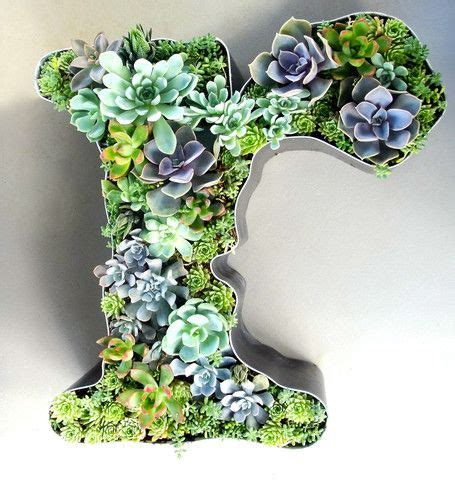 Succulent Letter Planter by Gardens Channel Letters And Planters On