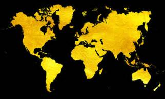 quot black and gold map of the world world map for your