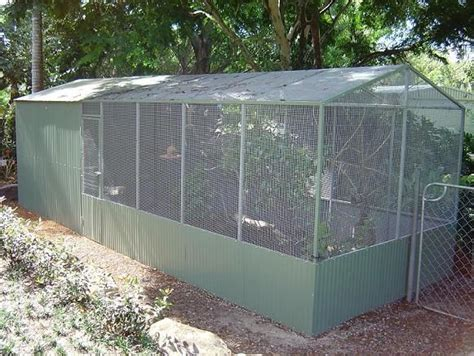 aviary conventional large single flight partial roof