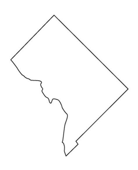 washington dc map silhouette study in washington district of columbia guide study in