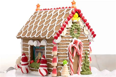 Gallery A Gingerbread House In Gingerbread House Recipes And Templates Christmas