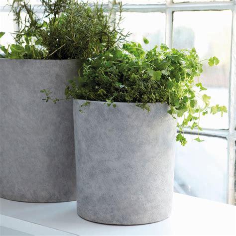 pflanztopf beton blumentopf grau beton 2er set house doctor kaufen