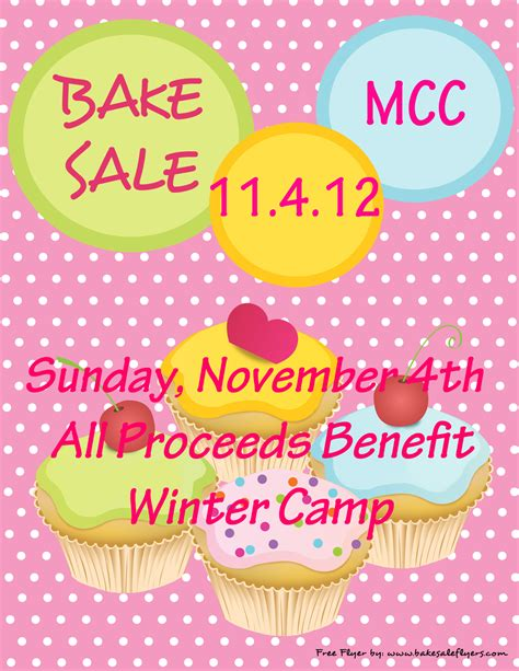 printable bake sale cake ideas and designs