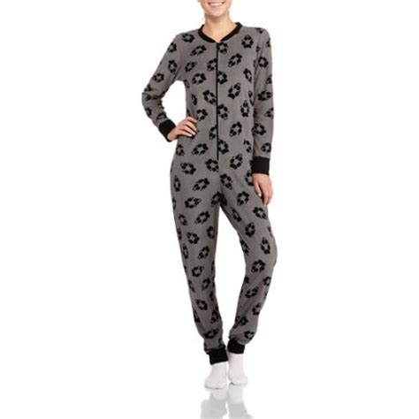 Women s one piece pajamas with drop seat