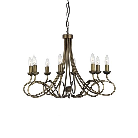 Steunk Chandelier Black And Gold Chandelier Elstead Lighting