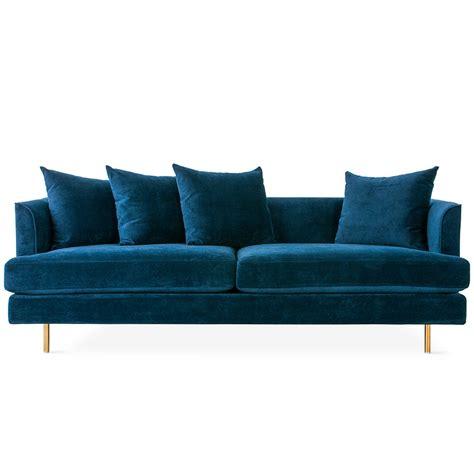 velvet modern sofa gus modern margot sofa velvet midnight eurway