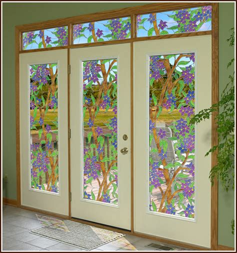 window glass covering stained glass cling biscayne see thru window