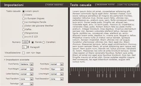 generatore di testo generatore di testi casuali