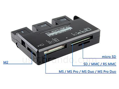 Cardreader 4 Slot Rotate usb 3 port hub card reader combo