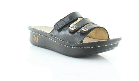 m s womens sandals alegria fiona black womens shoes size 9 5 m sandals msrp 100
