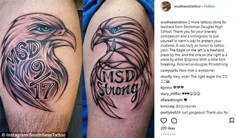 online tattoo course uk parkland teacher gets msd strong tattoo daily mail online