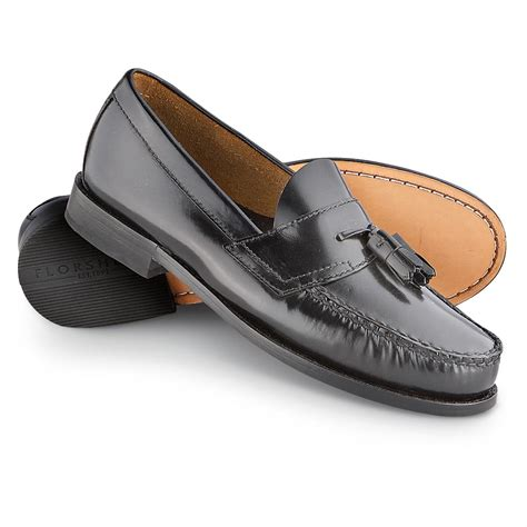 s florsheim 174 slip on dress tassel shoes black