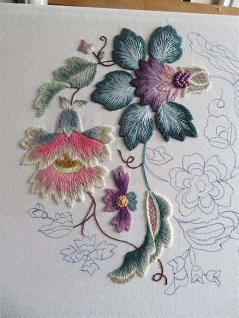 embroidery muster new age jacobean by chris richards embroidery crewel
