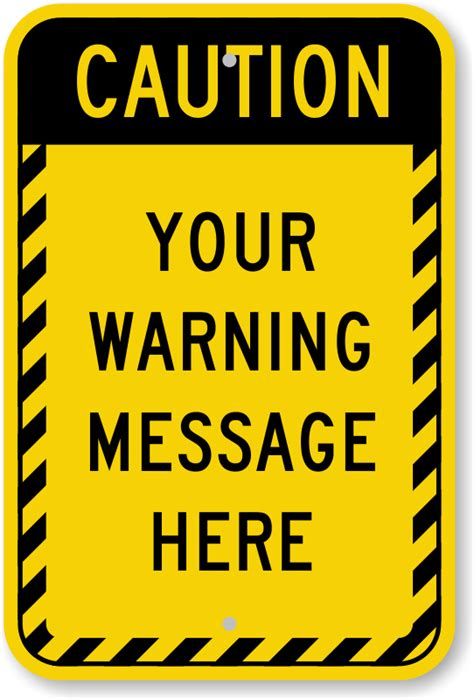 Custom Caution Signs Mysafetysign Com Caution Sign Template