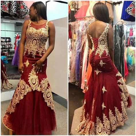 gold lace appliqued burgundy prom dresses,mermaid pageant