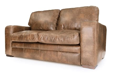 futon vintage urbanite vintage leather 2 seater sofa bed from boot