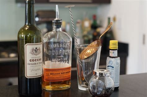 Home Bar Project How To Make A Manhattan The Drink Nation