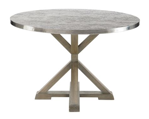 round metal dining table bernhardt