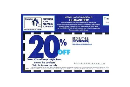 bed bath and beyond coupons codes 2018