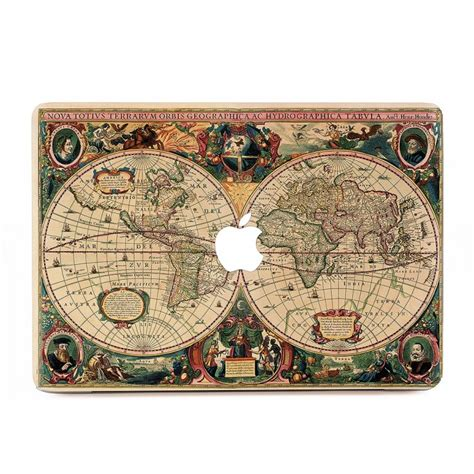 Macbook Aufkleber Weltkarte by Alte Weltkarte Macbook Skin Aufkleber