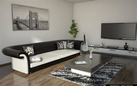 black and white living room living room black and white by andrej šenveter 3d artist