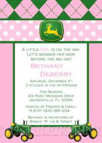 Www Uprint Templates by Tractor Deere Baby Shower Invitation Pink Blue