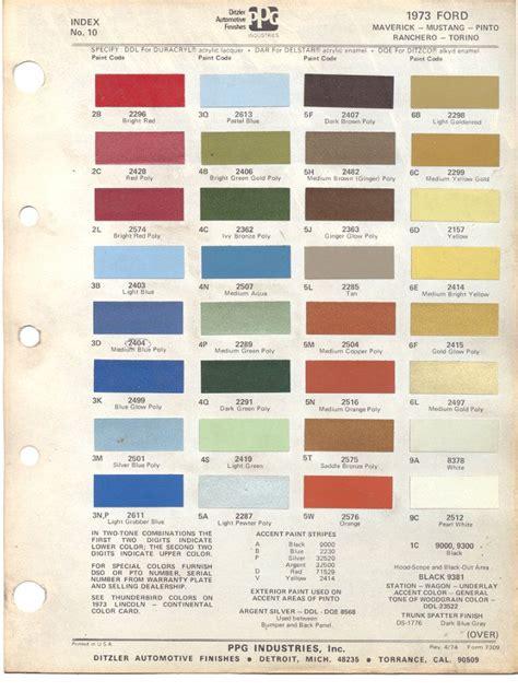 mavericks colors paint chips 1973 ford maverick mustang pinto rachero