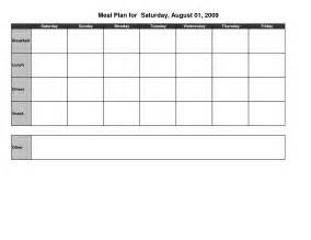 Blank Meal Plan Template by Meal Plan Template Affordablecarecat