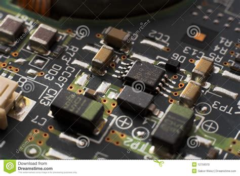 resistor and circuit board circuit board with resistors and microprocessors stock photo image 12759370