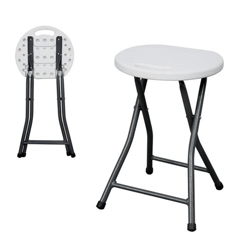 Fold Up Stools Cing by White Comfy Fold Up Stool