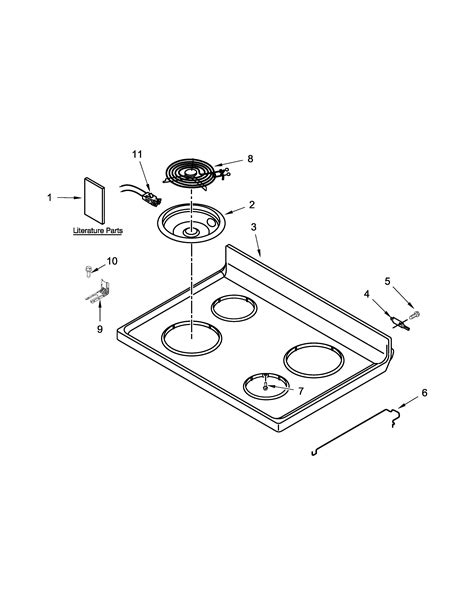 whirlpool cooktop parts whirlpool electric range parts model wfc150m0ew0 sears