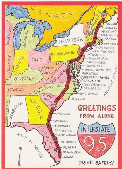 map of eastern us i 95 i 95 home office highway mobile road warrior telework