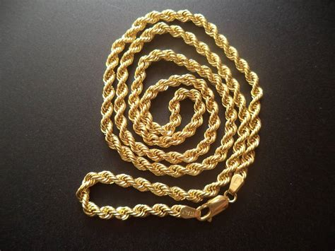 cadena torsal cadena torsal broche perico oro italiano 10k 60 cms c