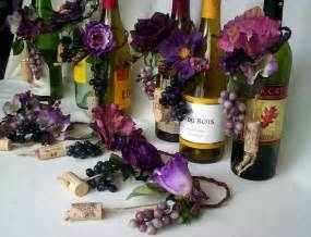 wine themed bridal shower centerpieces plum wedding centerpiece wine bottle toppers grapes custom